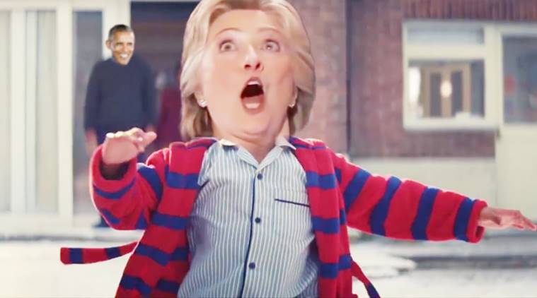 us elections memes, us elections parody, john lewis christmas ad, christmas spoofs, hillary clinton, barack obama, donald trump, indian express, indian express news