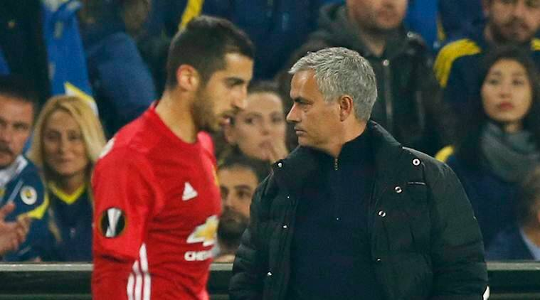 Jose Mourinho, Manchester United, Henrikh Mkhitaryan, manchester United starting line up, english premier league, sports, sports news, football, football news