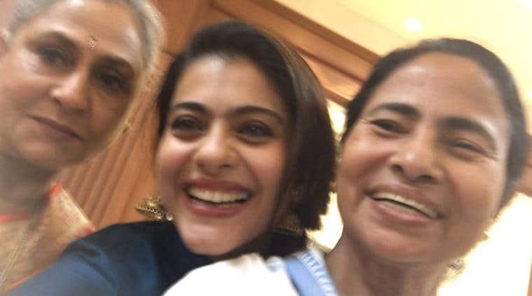 Kajol, Jaya Bachchan, Mamata Banerjee, kajol mamata, kajol selfie with mamata, kajol actress, kajol news, kajol movies, Kolkata International Film Festival, kiff, Kolkata International Film Festival news, kajol jaya bhadhuri, entertainment news, indian express, indian express news