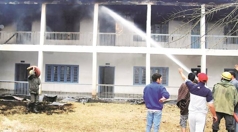 Kashmir, Kashmir schools set on fire, Kashmir schools, kashmir schools fire, kashmir unrest, kashmir school exams, kashmir curfew, burhan wani, indian express, india news