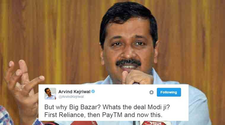 Arvind Kejriwal gets trolled again for targeting Big Bazaar