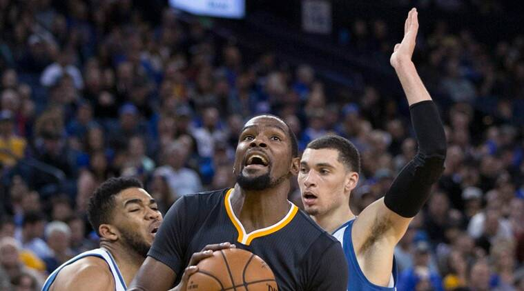 Kevin Durant too was impressive with 28 points. (Source: AP)