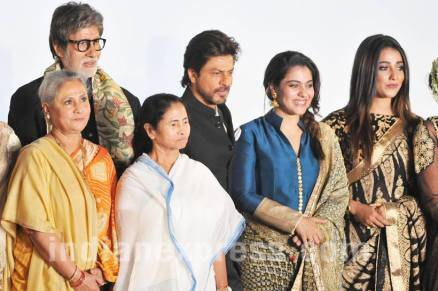 Amitabh Bachchan, Shah Rukh Khan, Sanjay Dutt, Kajol and Parineeti Chopra at Kolkata Film Festival