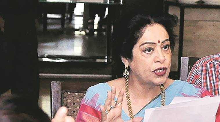 MP Kirron Kher backs Mayor Asha Jaswal, Kirron Kher, Kiron Kher on fresh tax issue, Kirron Kher on tx, Mayor Asha Jaswal, Chandigarh Municipal Corporation, indian express news