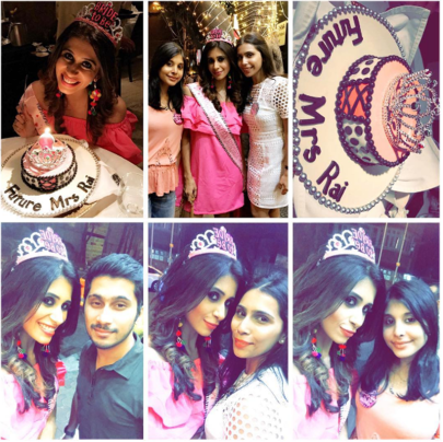 Kishwer Merchant Bachelorette Party, , Kishwer Bachelorette Party collage