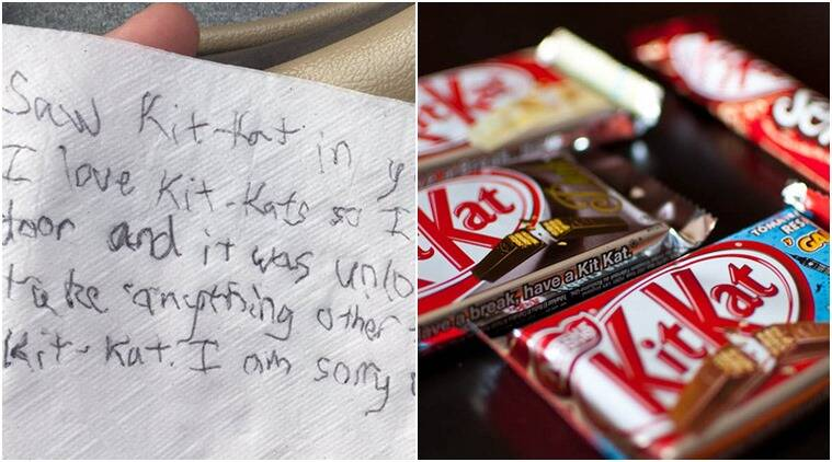 kitkat, theif breaks int ocar and steals kitkat, hungry thief, hungry thief breaks into car steals kitkat, hungry man steals just kitkat, hungry thief funny story steals kitkat, hungry thief steals only kitkat, indian express, indian express news