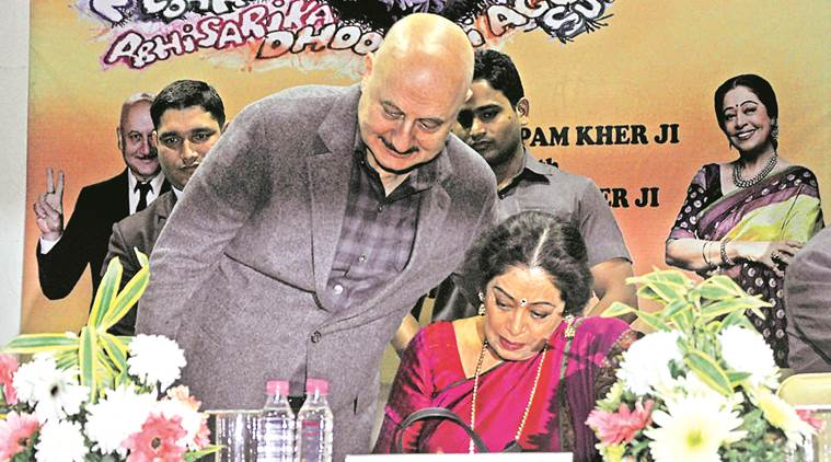 Anupam and Kirron Kher at the  Panjab University Alumni Association meet. Sahil Walia
