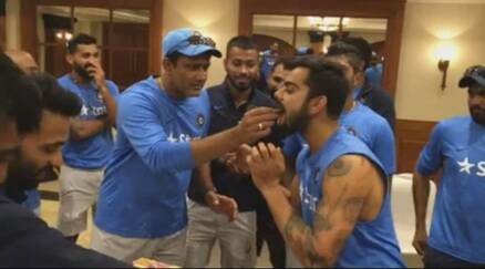 Time with family, date with Anushka Sharma, cake massage by team: How Virat Kohli celebrated his 28th birthday