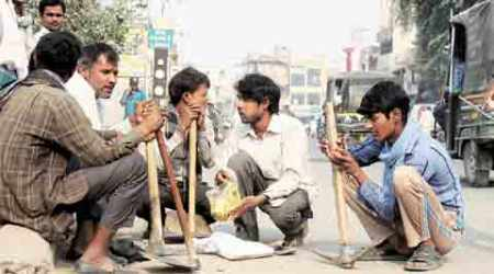 Going jobless at Labour Chowk: 'Eating at temples to save cash'