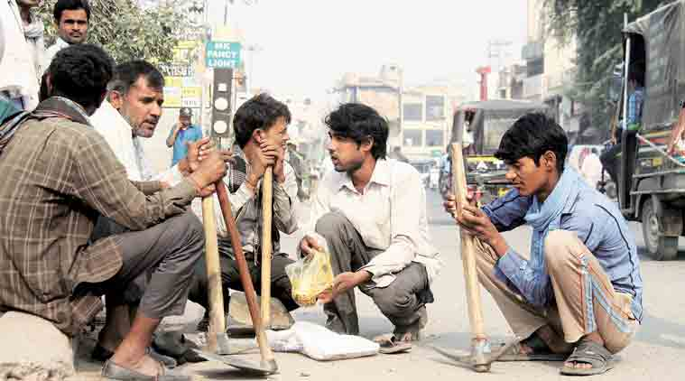 Image result for labour sitting india