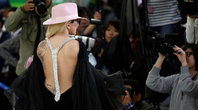 Lady Gaga in a racy jumpsuit. (Source: Reuters)