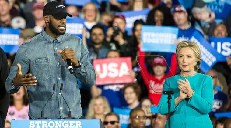 lebron james, lebron james cleveland, lebron james white house visit, lebron james barack obama, lebron james hillary clinton, donald trump, US elections, US presidential elections, Election 2016, basketball, nba, cleveland cavaliers, sports, sports news