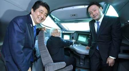 In Japan, Modi, Abe travel in famed Shinkansen train from Tokyo to Kobe