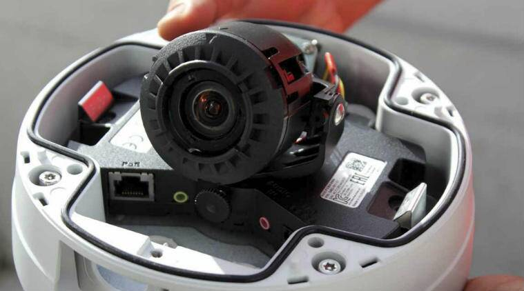 Close up look inside a Satlink high definition electronic monitoring camera before it was installed on a longline tuna boat in Palau. (Image: AP)