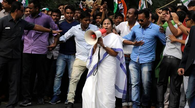 mamata banerjee, modi, narendra modi, demonetisation, mamata protest, mamata banerjee protest, demonetisation protest bharat bandh, demonetisation impact, india news