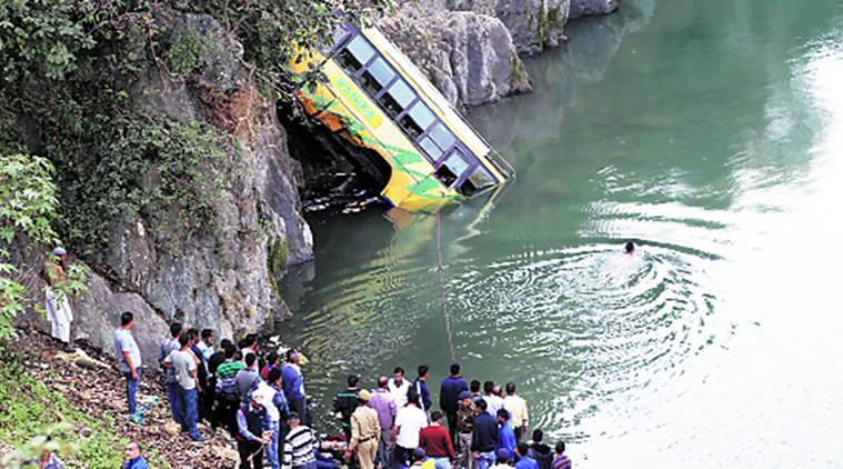 himachal, himachal bus accident, mandi bus accident, bus accident mandi, himachal news, kullu bus accident, mandi news, kullu news, himachal news, india news