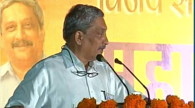parrikar, manohar parrikar, parrikar goa, parrikar at panjim, manohar parrikar vikas sankal rally, goa elections, goa elections 2017, goa polls, india news, indian express,