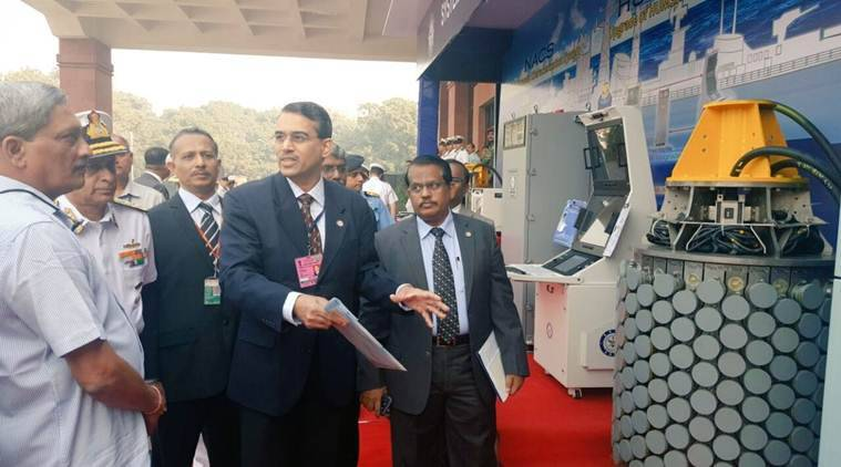 Navy, Indian navy, manohar parrikar, DRDO, Navy equipments, indigenously developed sonars , induction, inducted sonars, india news, indian express news