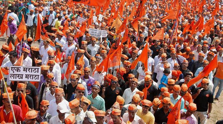 "Sindhudurg: Maratha Community people participate in a ""Maratha Karnti Morcha"" in Sindhudurg, Maharashtra on Sunday. PTI Photo  (PTI10_23_2016_000150A)"