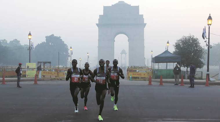 Delhi Pollution, delhi somg, delhi half marathon, delhi half marathon date, delhi half marathon postponed, Indian Medical Association, IMA, Delhi High Court, Indian Express news