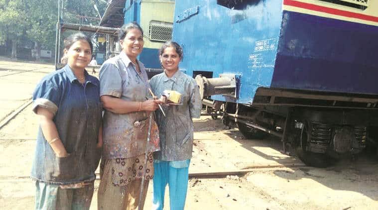 Ashwini Ghanekar, Shivali Patekar and Geeta Rajane & Sangeeta Maleka. (Express Photo)