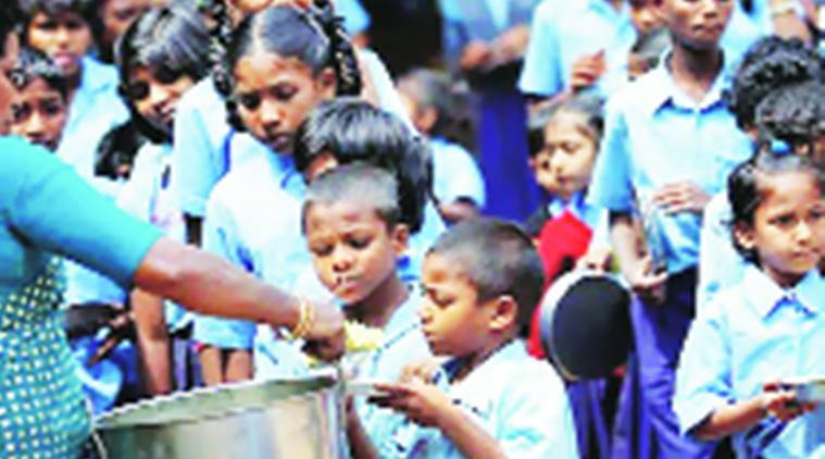 Mid day meal scheme, mid day meal, ppor quality food, stop meals, 207 schools, india news, indian express