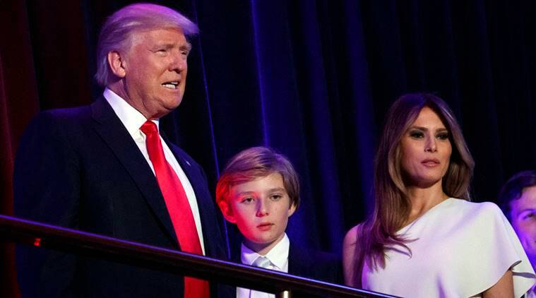 President-elect Donald Trump with his son Barron and wife Melania, in New York.(AP Photo/Evan Vucci, File)