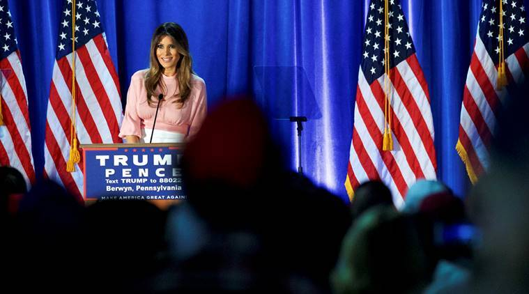 Melania Trump, donald trump, donald trump wife, trump wife, make america great again, US elections 2016, US presidential elections, Donald Trump, republican trump, Hillary Clinton, democratic clinton, US presidential candidates, world news, indian express
