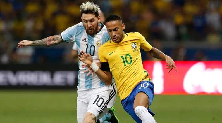 Neymar, Messi, lionel messi, brazil vs argentina, brazil win vs argentina, messi argentina, world cup qualifers, football world cup, football, football news, sports, sports news