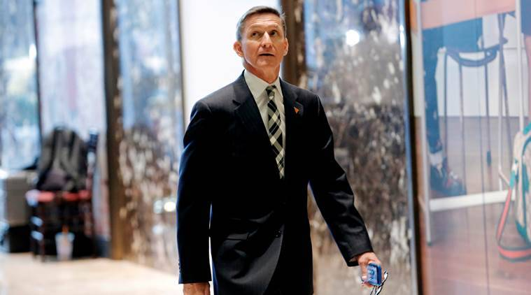 Retired U.S. Army Lieutenant General Michael Flynn arrives to meet with U.S. President-elect Donald Trump at Trump Tower in the Manhattan borough of New York City, NY, U.S. November 17, 2016. REUTERS/Mike Segar/File Photo
