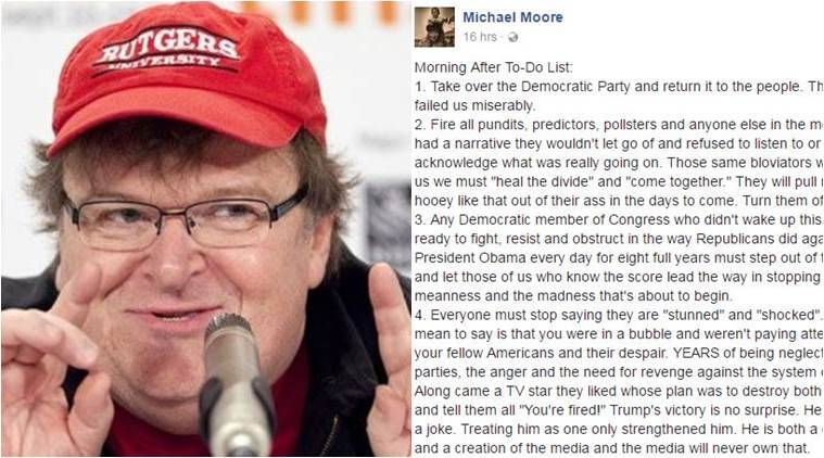 Michael Moore has something to say after Trump's victory and it's gone viral