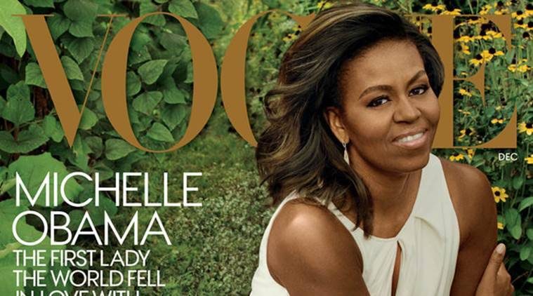 Michelle Obama on the cover of Vogue. (Source: Annie Leibovitz/Vogue)