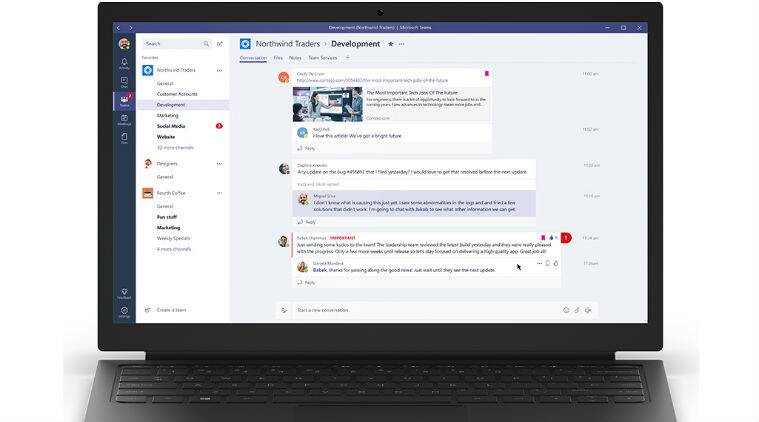 Microsoft , Microsoft Teams, Microsoft Teams vs Slack, Teams launch, teams features, Microsoft Teams features, Microsoft Teams Skype, Office 365, social media, technology, technology news