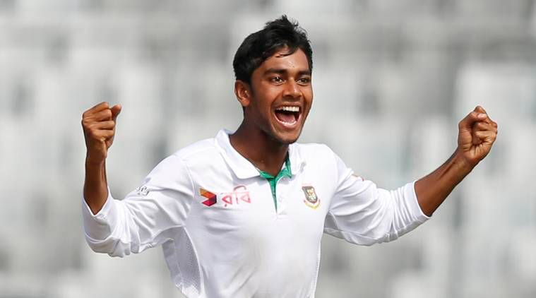 Mehidy Hasan celebrates after picking a wicket