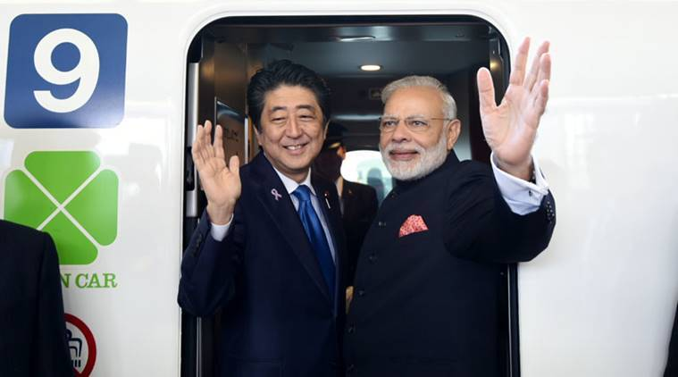 Piyush Goyal, bullet train, India bullet train, Narendra Modi, Shinzo Abe, Mumbai-Ahmedabad bullet train project, India-Japan, Indian railways, indian express