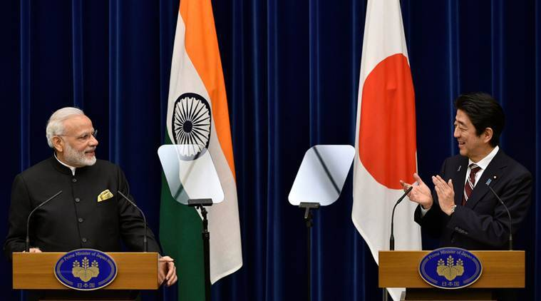 India-japan, Indo-sino, india -japan ties, Civil nuclear deal, Narendra modi, PM Modi, Japan visit, Modi japan visit, PM modi japan visit, narendra modi japan visit, shinzo abe, abe, modi-abe, india-japan pacts, India-japan MoUs, MoU, infrastructure, agriculture, japanese investment, india-japan agreement, india news, indian express