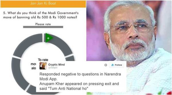 The jokes on Narendra Modi app's survey are hilarious