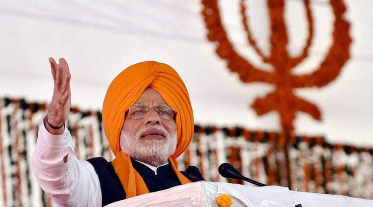PM Mod at Anandpur Sahib. (PTI Photo)