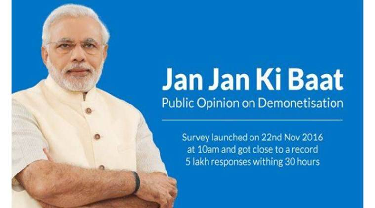 demonetisation, Narendra Modi, NM App, demonetisation survey, smartphones, news, latest news, India news, national news