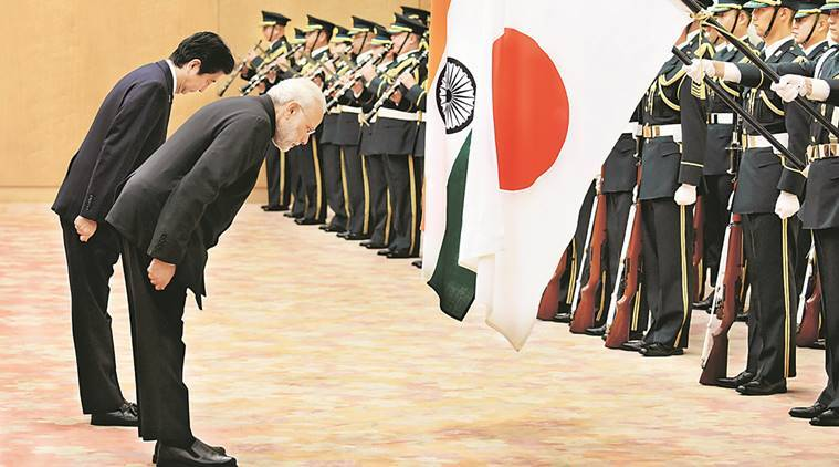 narendra modi, modi in japan, modi abe, nuclear deal, uri attack, pathankot attack, manohar parrikar, ctbt, lashkar, islamic state, terrorism, modi abe N deal, PM Modi Japan visit, japanese pm shinzo abe, modi japan visit, pm modi, nuclear deal, modi in japan, modi abe, shinzo abe, nsg, indian express news, india news