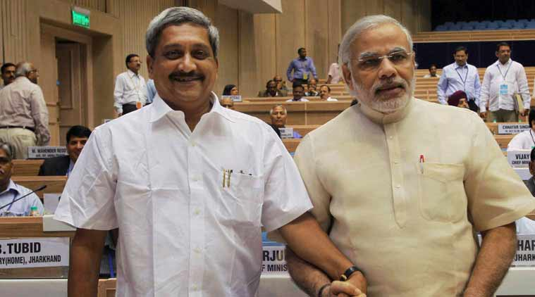 Image result for manohar parrikar and narendra modi