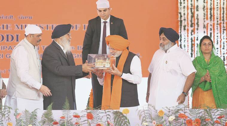 Guru Gobind Singh anniversary, Guru Gobind Singh Modi, Narendra Modi, PM Modi, Modi, Modi in Punjab, India news, latest news, indian express