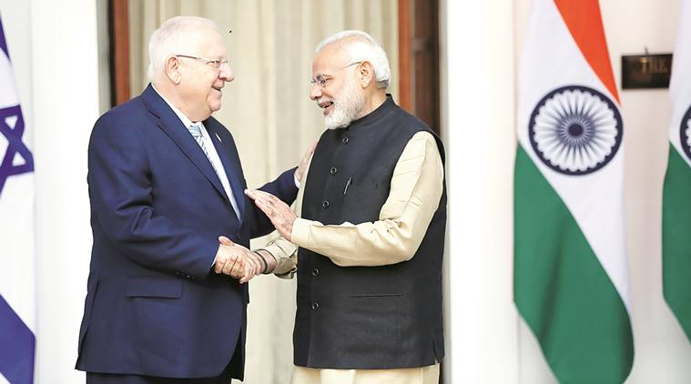 narendra, modi, Reuven Rivlin, terrorism, islamic state, pakistan terrorists, india israel, israel, india, fight terror, indian express news, india news