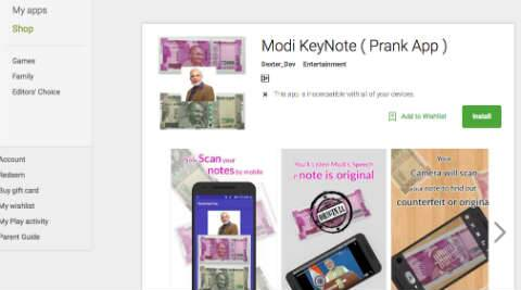 Modi KeyNote app is a prank, don't use for Rs 2000 note