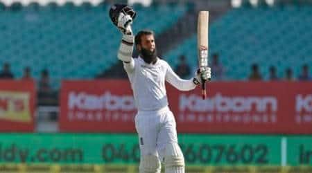 Moeen Ali, Moeen Ali rajkot test, Moeen Ali runs, Moeen Ali century, Moeen Ali bowling, India vs england, ind vs eng, Indian batting order, cricket, cricket news, sports, sports news