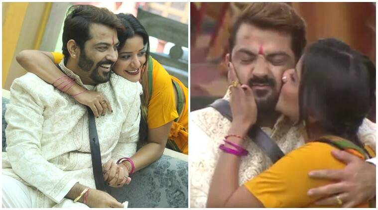 Manoj Punjabi and Mona Lisa's love life, Mona Lisa real life boyfriend, Vikrant Singh Rajpoot Mona Lisa boyfriend, Manu Punjabi real life girlfriend, Priya Saini manoj punjabi relationship, mona lisa boyfriend leaves her, manoj monalisa love moments bigg boss 10, manoj punjabi bigg boss 10, mona lisa bigg boss 10, bigg boss 10 news, bigg boss 10 updates, television news, television updates, entertainment news, indian express news, indian express