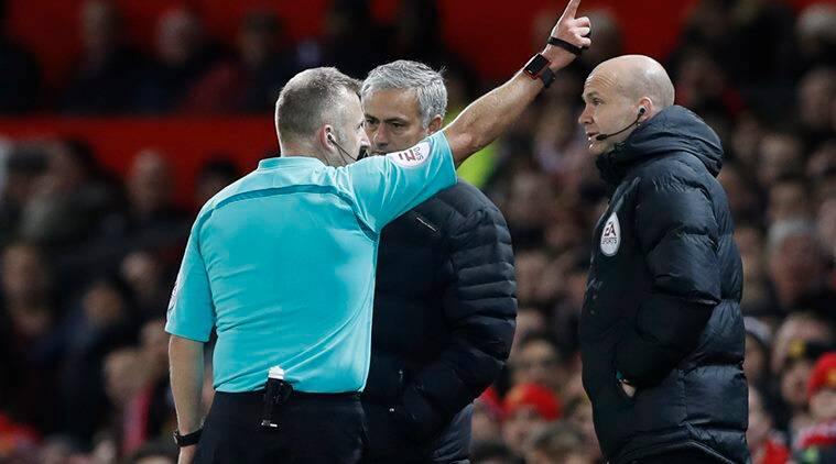 jose mourinho, mourinho, manchester united, united, manu, manchester united vs west ham, old trafford, jose mourinho sent off, football news, sports news