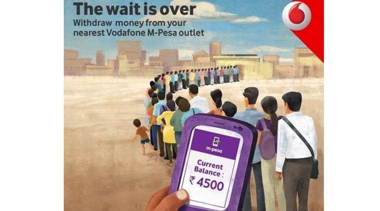 vodafone, vodafone india, vodafone M-pesa, M-Pesa app, M-Pesa application, Vodafone M-Pesa, M-pesa outlet, vodafone demonetisation, vodafone withdraw cash, vodafone digital wallet, e-wallet, india news