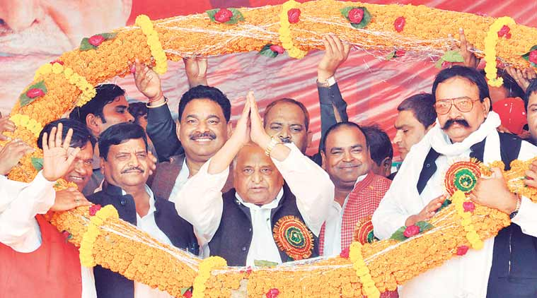 mulayam singh, samajwadi party, qed, uttar pradesh, up polls, ghazipur, ghazipur rally, samajwadi arty qed merger, qed samajwadi merger, india news