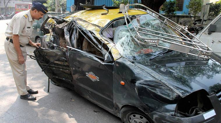 Eastern Freeway accident, dongri accident, mumbai accident, Eastern Freeway road accident, mumbai cab accident, mumbai road accident, india news, mumbai news